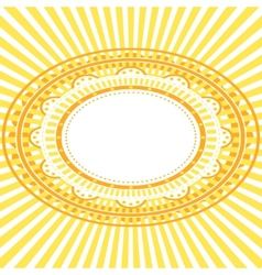 Yellow oval frame vector image