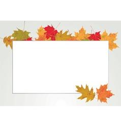 Autumn leaves copyspace vector