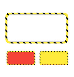 border yellow and black color construction vector image
