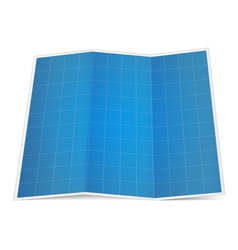Folded blueprint paper vector image vector image