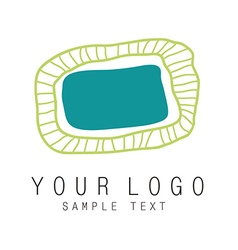 Logo oval vector image vector image