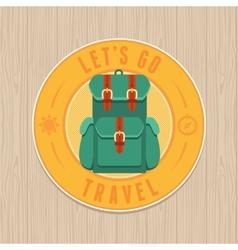 Vintage badge - flat icon travel concept vector
