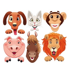 Animals portrait vector image