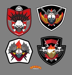 Army emblem set Special forces patch with skull vector image vector image