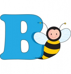 b is for bee vector image vector image
