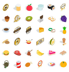cherry icons set isometric style vector image vector image