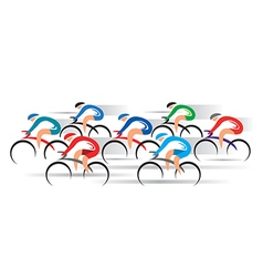 Cyclists racers vector image