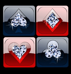 diamond metallic card game sig vector image vector image
