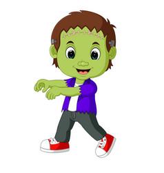 halloween frankenstein mascot vector image