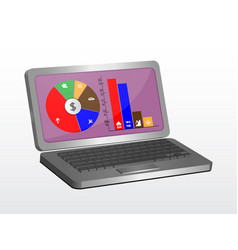 laptop graphic design can be used as an element vector image