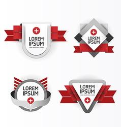 Modern design modern labels vector