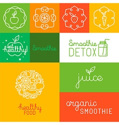 Organic juice - packaging design elements vector image vector image
