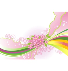 abstract flower background layers are separated vector image vector image