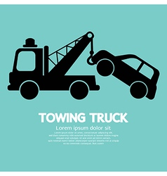 Car Towing Truck vector image