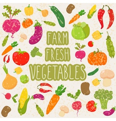 Farm fresh vegetables healthy food vector image