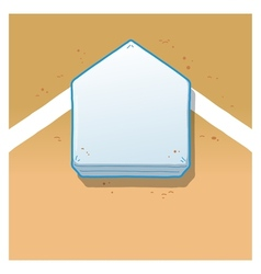 Home Plate vector image vector image