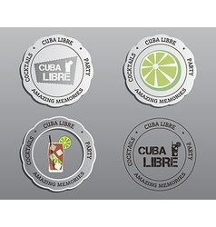 Summer cocktail party badges labels and logo vector image