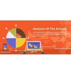 Analysis of Actions Infographic vector image
