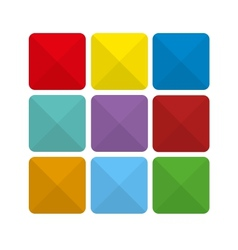 Colorful abstract flat icon backgrounds vector image
