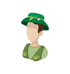Fisherman cartoon icon vector image