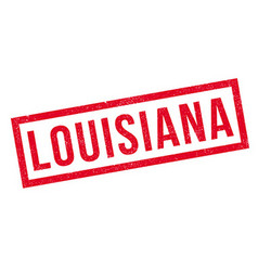 Louisiana rubber stamp vector image
