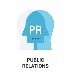 public relations icon vector image vector image