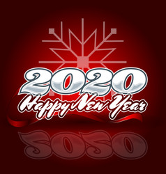2020 in center on a red background with the vector image
