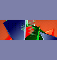3d triangular minimal abstract background vector image