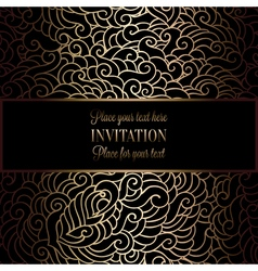 Abstract background with antique luxury black and vector