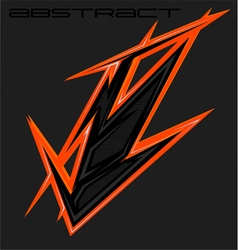 Abstract sharp element motocross mx wrap vector