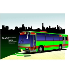 al 0542 city bus 03 vector image