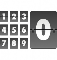 Analog clock numbers vector