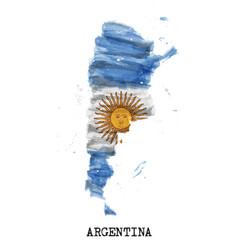 Argentina flag watercolor painting design and vector