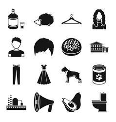 Atelier appearance and other web icon in black vector