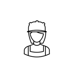 avatar builder outline icon signs and symbols can vector image