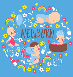baboy shower newborn baby vector image