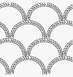 Black marker braids in arcs vector