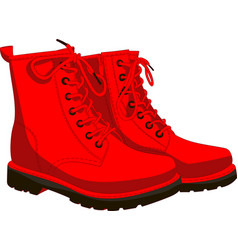 boots red isolated on white vector image