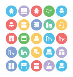 Building and Furniture Icons 15 vector