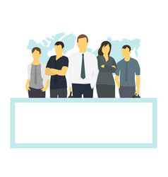 business team and frame place for text company vector image
