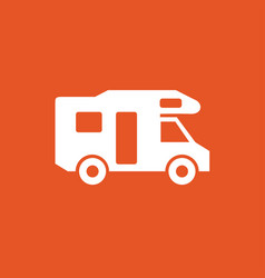 camper icon house on wheels logo vector image