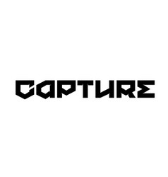 Capture stamp on white vector