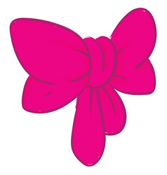 Clipart a pink bow or color vector