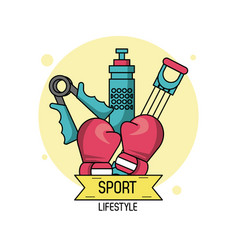 Colorful poster of sport lifestyle of boxing vector