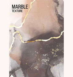 Contrast grey and orange marble poster pastel vector