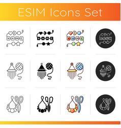 Creative activities icons set vector