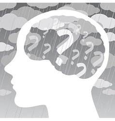 Depression and confusion concept vector image