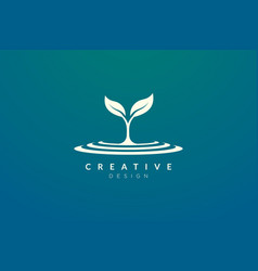 Design a combination plant logo and puddle for vector