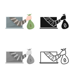 Design theft and hand icon collection vector