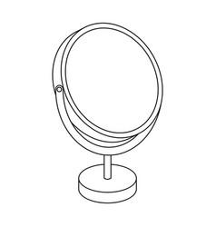 Desk mirrorbarbershop single icon in outline vector